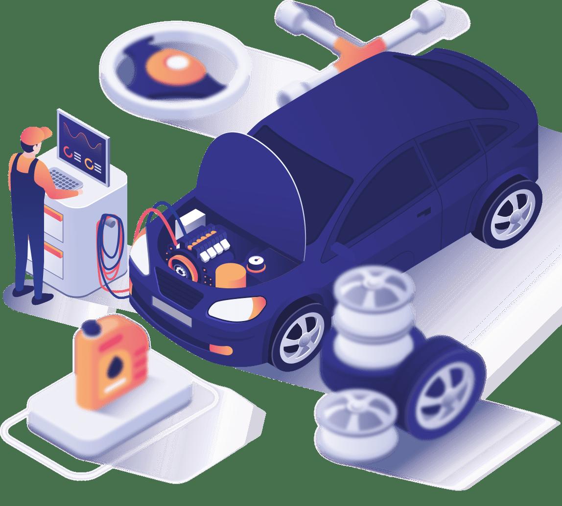 Auto Reparatur und Inspektion