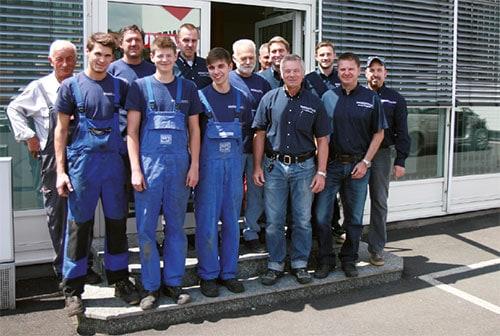 Team von Unfall Stegner